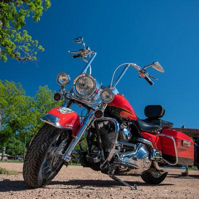 Harley in Texas; Foto: Iris Blümling