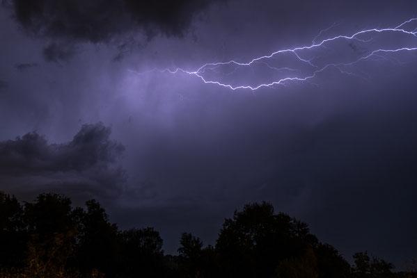 Gewitter über Lauchringen;  Foto: Rudi Franck