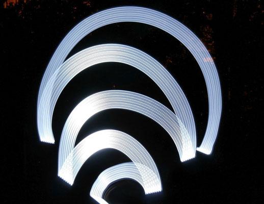 Lichtspuren mit LED-Leuchte