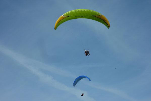 Gleitschirmflieger bei Salzburg; Foto: Fred Bischoff