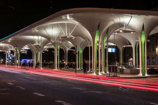 Omnibusbahnhof in München; Foto: Rudi Franck