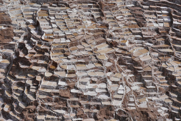 Salzterrassen von Maras, Peru; Foto: Rudi Franck