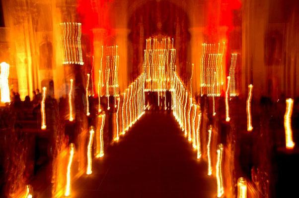 Lichtspektakel kath. Kirche Tiengen 2016