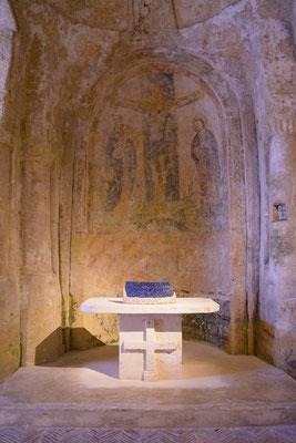 Matera dei Sassi, Krypta; Foto: Michael Paiano