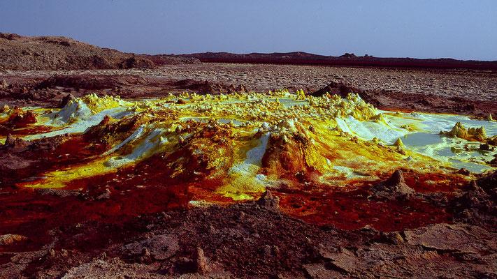 Dallol in Ost-Äthiopien; Foto: Wolfgang Eigener