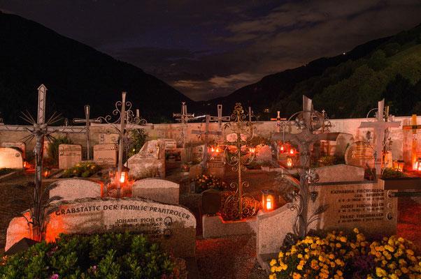 Friedhof von Lüsen; Foto: Werner Beermann