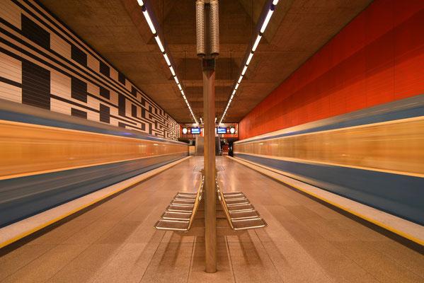 U-Bahnhöfe in München - Oberwiesenfeld; Foto:  Sabine Mathis