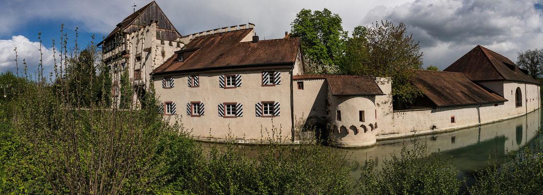 Schloss Beuggen, Panoramaaufnahme; Foto: Iris Blümling