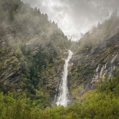 Tief 'Cathrin' im Valle di Peccia;  Foto: Iris Blümling