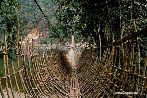 Dschungelbrücke-Arunachal-Pradesh-Nordostindien; Foto: Wolfgang Eigener