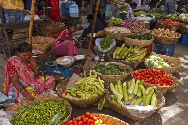 Gemüsemarkt in Udeipur; Foto: Wolfgang Eigener