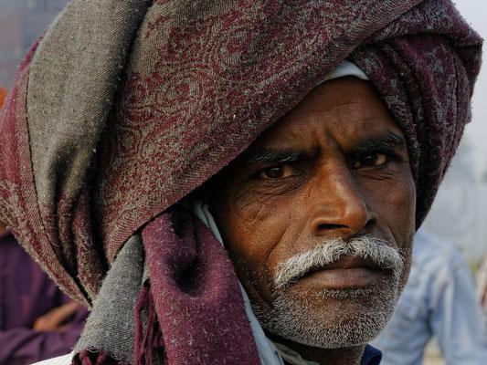 Männerportrait in Indien; Foto: Wolfgang Eigener