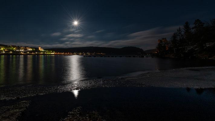Vollmond über dem Schluchsee 2; Foto: Iris Blümling