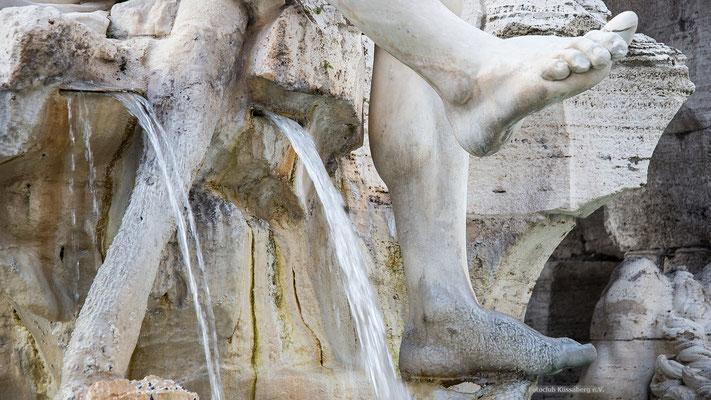 fontana dei quattro fiumi rom;  Foto: Iris Blümling