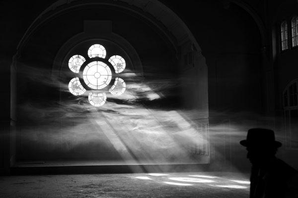 Beelitz Heilstätten Speisesaal im Männersanatorium; Foto: Joachim Hartbaum