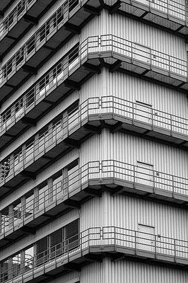 Gebäude in Pratteln bei Basel