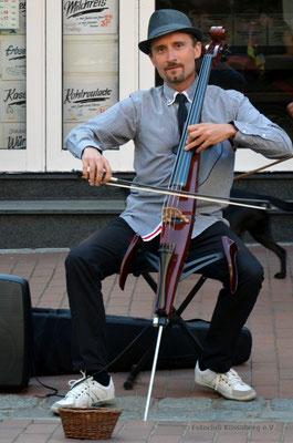 Straßenmusiker auf Sylt; Foto: Sabine Mathis