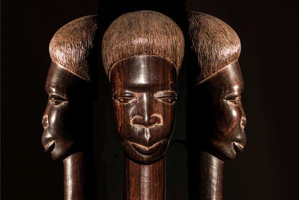 Afro-kopf, Mehrfachbelichtung;  Foto: Werner Beermann