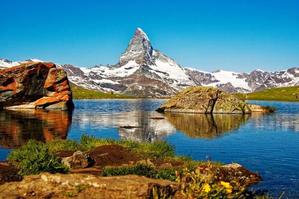 Stellisee mit Matterhorn; Foto: Peter Draemann
