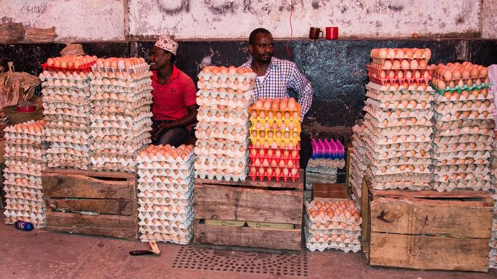 Markt auf Sansibar; Foto: Iris Blümling