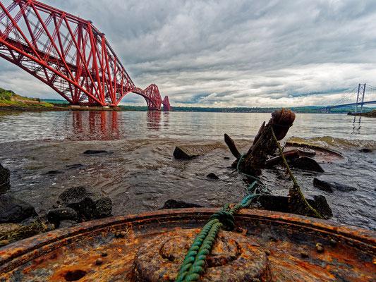 Eisenbahnbrücke über den Firth of Forth, bei Edinburgh; Foto: Gast Peter Draemann