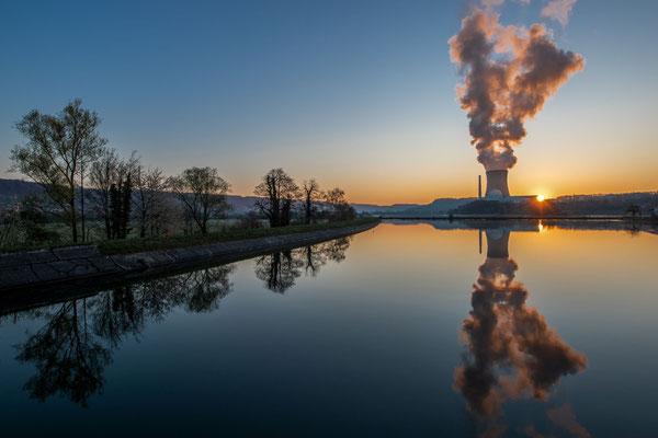 Sunrise am AKW; Foto: Werner Beermann
