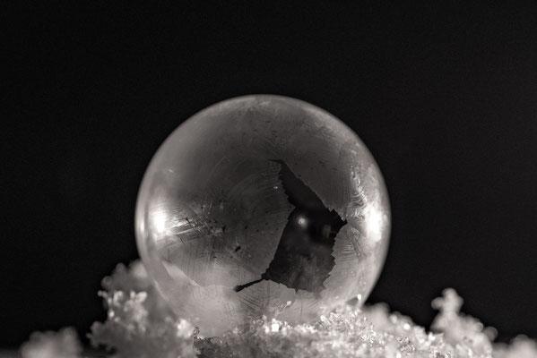 gefrorene Seifenblase; Foto: Rudi Franck
