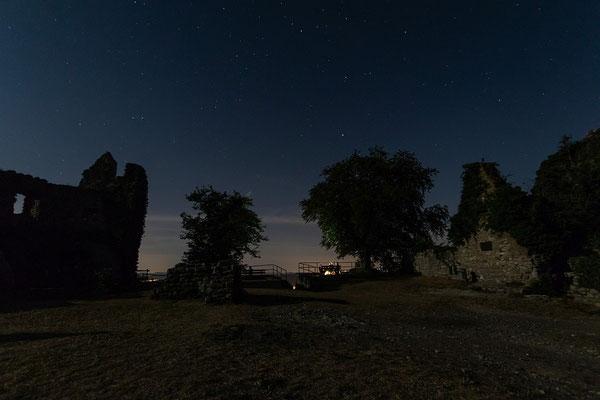 Sternennacht auf der Küssaburg, 10 mm WW; Foto: Michael Götz