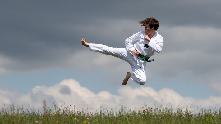 Yop Chagi taekwondo; Foto: Iris Blümling
