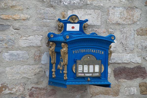 Kaiserlich preußischer Postkasten in Dresden; Foto: Fred Bischoff