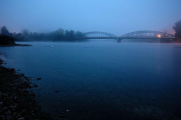 Christian von Malchus, Rhein im Morgendunst vor Waldshut