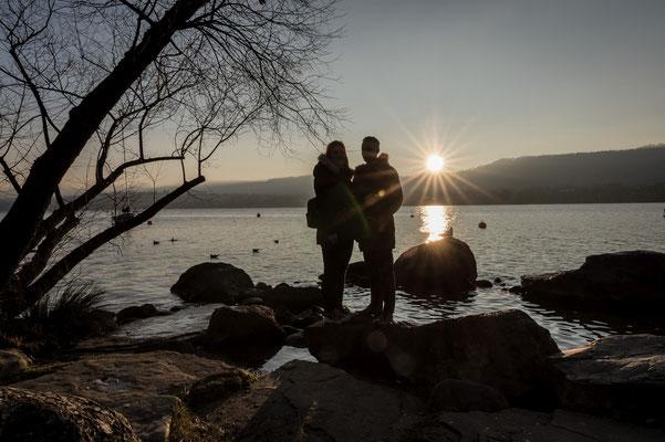 Pärchen am Zürichsee; Foto: Sonja Grambach