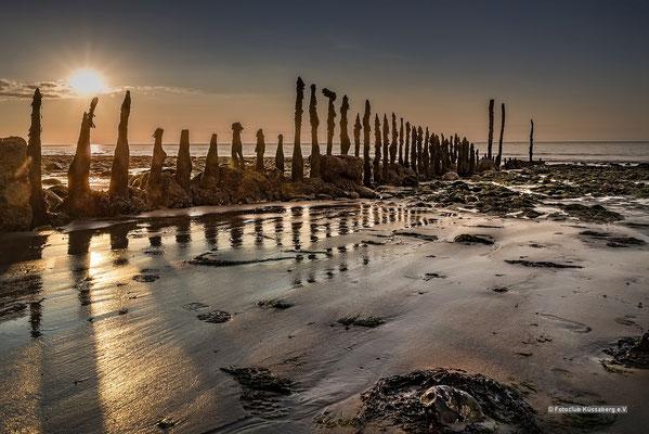 Am Strand der Normandie; Foto: Iris Blümling