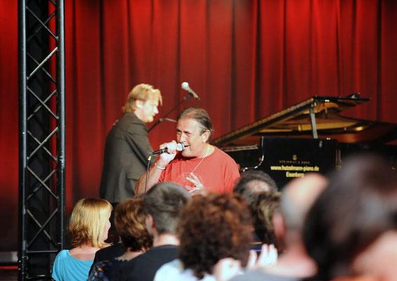 Spontaner Auftritt beim Stefan Gwildis-Konzert in Weimar, 08.05.2013, Foto: Stefan Kranz