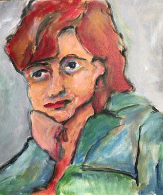 Frau 5,  50x50cm, Acryl