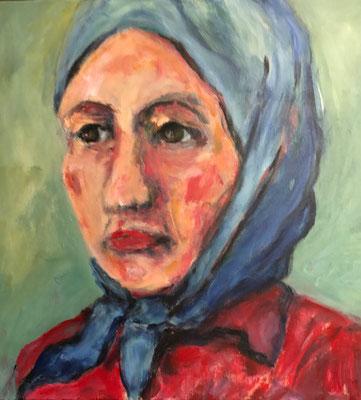 Frau 4,  50x50cm, Acryl