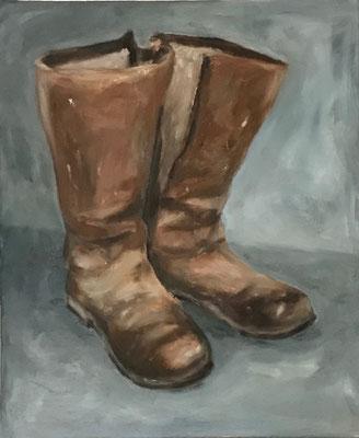 Stiefel, 50x70cm, Öl auf Leinwand