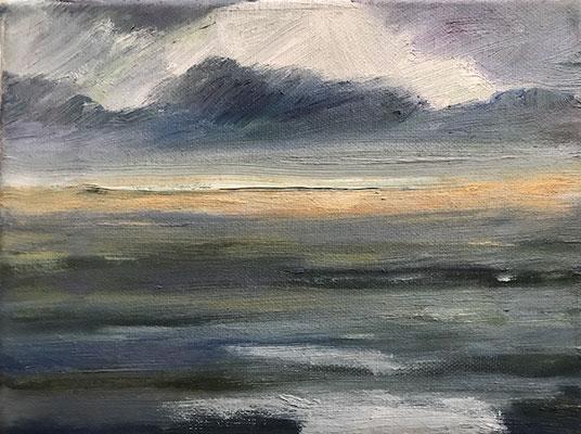 Landschaft 2, 24x18cm, Öl auf Leinwand