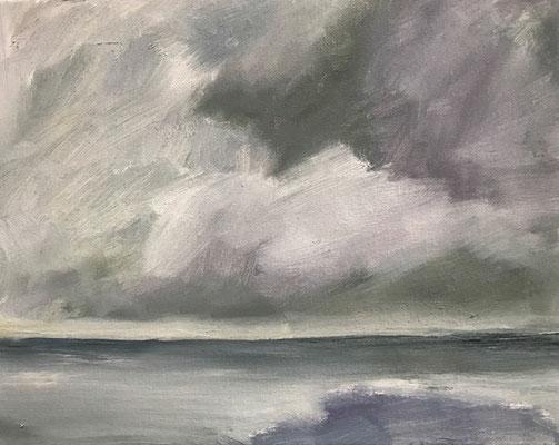 Landschaft 3, 24x18cm, Öl auf Leinwand