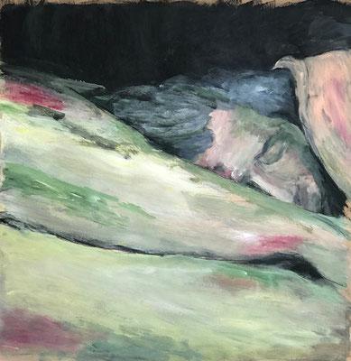 Schlaf, 100x100cm, Acryl