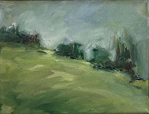 Landschaft 1, 24x18cm, Öl auf Leinwand