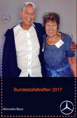 Gretel Schlotter und Oliver Träger - unsere Teilnehmer beim Bundestafeltreffen Juli 2017
