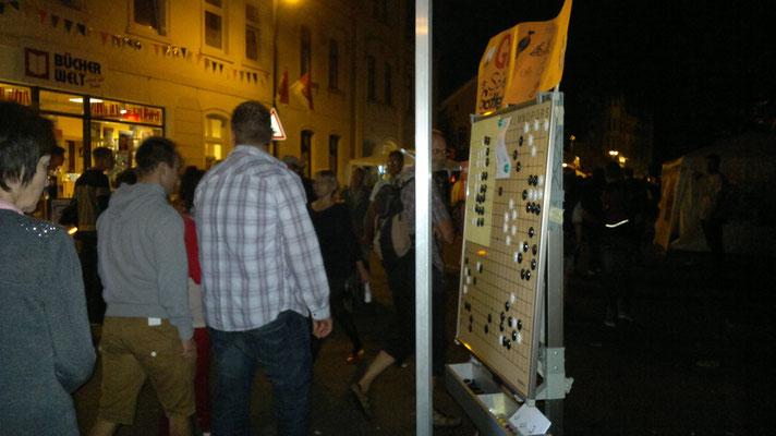 Feststraße am Abend - unsere Nachbarn sind schon gegangen