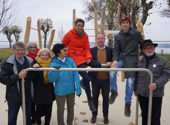 Projekte nehmen Gestalt an - Workout-Station eingeweiht
