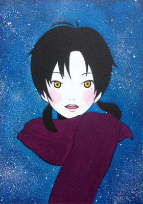 『雪の夜の少女』オリジナル、2015