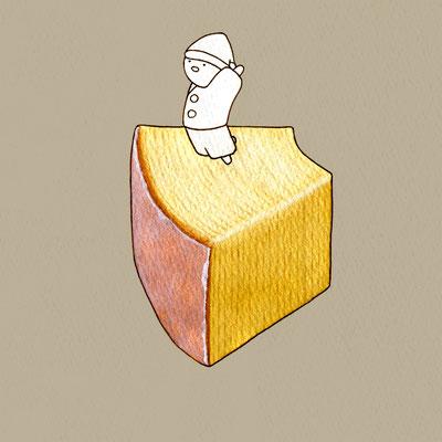 『バームクーヘン』FOODS AND AN ELF、オリジナル、透明水彩、2017