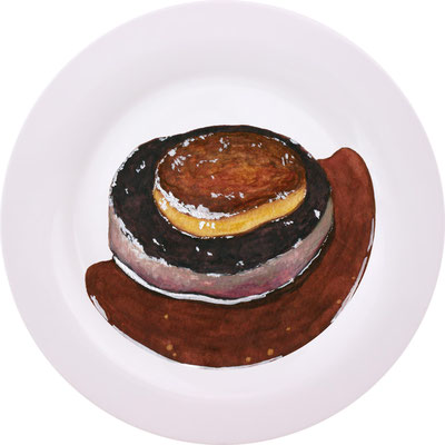 牛フィレ肉とフォアグラのロッシーニ(フランス料理)、授業課題、2016