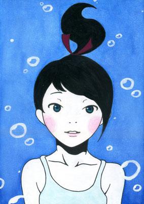 『水中の少女』オリジナル、2015