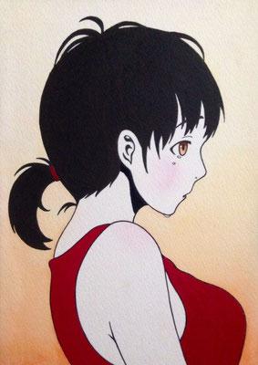 『涙する少女』オリジナル、2015