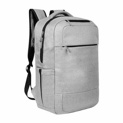 Código SIN 206  (2 Bolsas principales con compartimento interno para laptop y tablet, 2 bolsas frontales con cierre, 2 bolsas laterales y 1 bolsa trasera con cierre. Tirante con compartimento con salida USB   Material: Poliester . Tamaño 31 x 45 x 12 cm